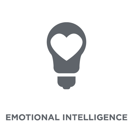 Emotional intelligence icon. Emotional intelligence design concept from Time managemnet collection. Simple element vector illustration on white background. Illusztráció
