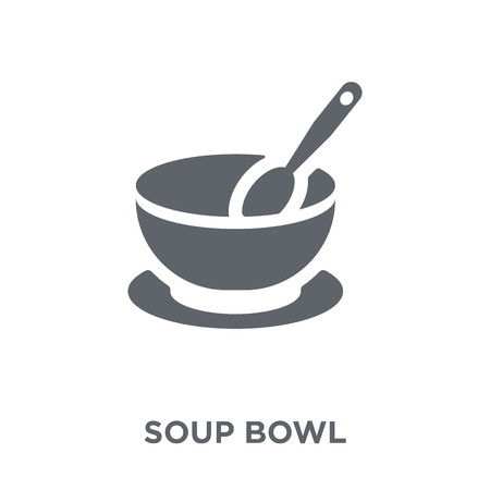 soup bowl icon. soup bowl design concept from Kitchen collection. Simple element vector illustration on white background.