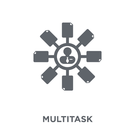 Multitask icon. Multitask design concept from Time managemnet collection. Simple element vector illustration on white background. Stock Vector - 112202496