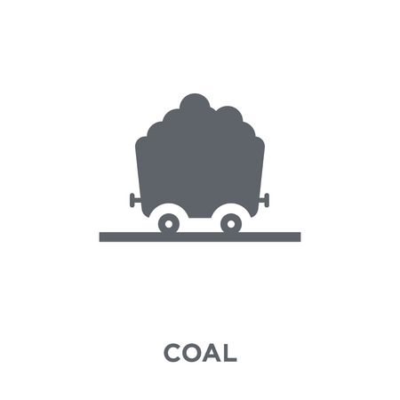 Coal icon. Coal design concept from  collection. Simple element vector illustration on white background. Stock Illustratie