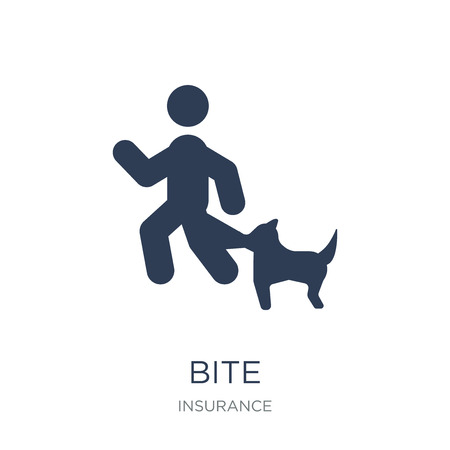 Bite icon. Trendy flat vector Bite icon on white background from Insurance collection, vector illustration can be use for web and mobile, eps10