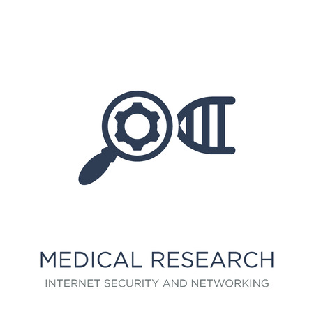 Medical research icon. Trendy flat vector Medical research icon on white background from Internet Security and Networking collection, vector illustration can be use for web and mobile, eps10
