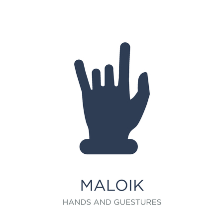 Maloik icon. Trendy flat vector Maloik icon on white background from Hands and guestures collection, vector illustration can be use for web and mobile, eps10 Foto de archivo - 112139003