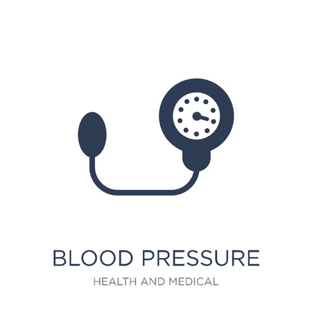 Blood pressure icon. Trendy flat vector Blood pressure icon on white background from Health and Medical collection, vector illustration can be use for web and mobile, eps10 Stock Illustratie