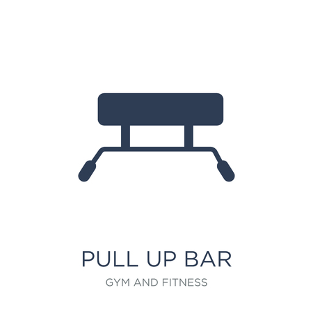 Pull up bar icon. Trendy flat vector Pull up bar icon on white background from Gym and fitness collection, vector illustration can be use for web and mobile, eps10