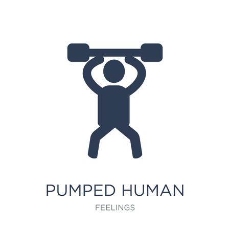 pumped human icon. Trendy flat vector pumped human icon on white background from Feelings collection, vector illustration can be use for web and mobile, eps10