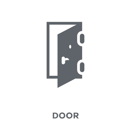Door icon. Door design concept from Furniture and household collection. Simple element vector illustration on white background.