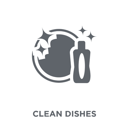 Clean dishes icon. Clean dishes design concept from  collection. Simple element vector illustration on white background. Stock Illustratie
