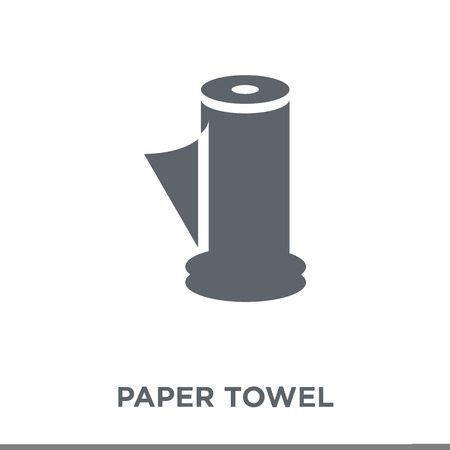 paper towel icon. paper towel design concept from Hygiene collection. Simple element vector illustration on white background.