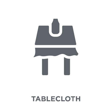 tablecloth icon. tablecloth design concept from Kitchen collection. Simple element vector illustration on white background.