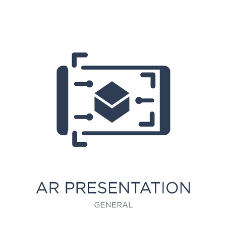 ar presentation icon. Trendy flat vector ar presentation icon on white background from general collection, vector illustration can be use for web and mobile, eps10 Stockfoto - 112202658