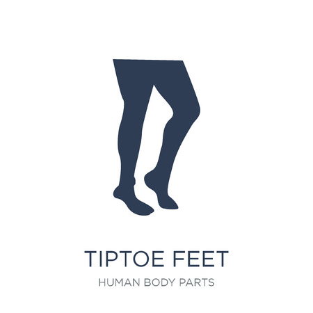 Tiptoe feet icon. Trendy flat vector Tiptoe feet icon on white background from Human Body Parts collection, vector illustration can be use for web and mobile, eps10 Archivio Fotografico - 112202993
