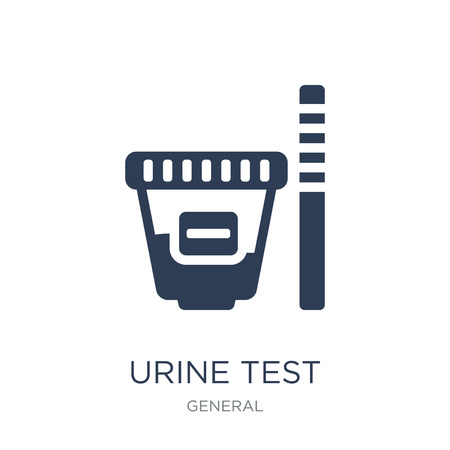 urine test icon. Trendy flat vector urine test icon on white background from General collection, vector illustration can be use for web and mobile, eps10 Stock fotó - 111299528