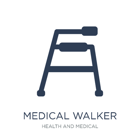 medical Walker icon. Trendy flat vector medical Walker icon on white background from Health and Medical collection, vector illustration can be use for web and mobile, eps10
