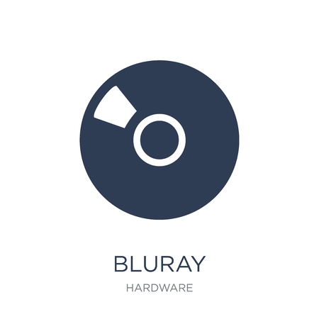Blu ray icon. Trendy flat vector Blu ray icon on white background from hardware collection, vector illustration can be use for web and mobile