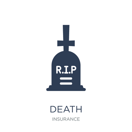 Death icon. Trendy flat vector Death icon on white background from Insurance collection, vector illustration can be use for web and mobile, eps10