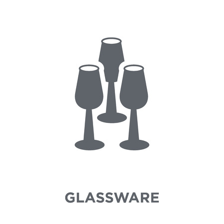 Glassware icon. Glassware design concept from Furniture and household collection. Simple element vector illustration on white background.
