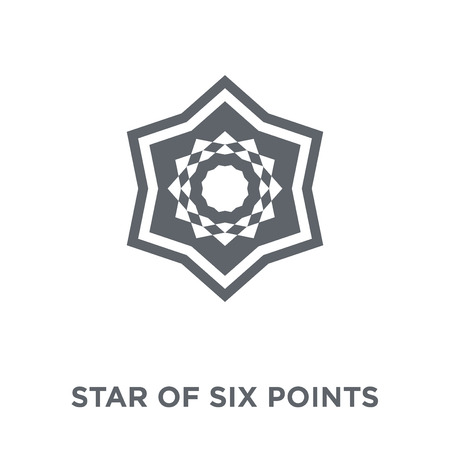 Star of six points icon. Star of six points design concept from Geometry collection. Simple element vector illustration on white background. Çizim