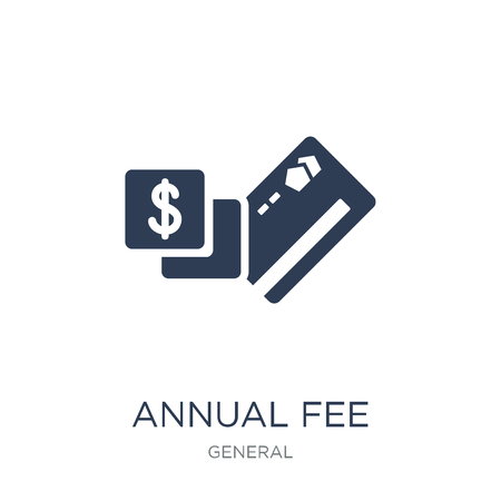 annual fee icon. Trendy flat vector annual fee icon on white background from general collection, vector illustration can be use for web and mobile, eps10
