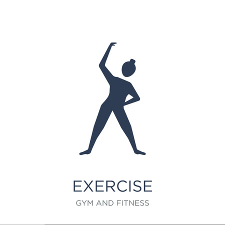Exercise icon. Trendy flat vector Exercise icon on white background from Gym and fitness collection, vector illustration can be use for web and mobile, eps10