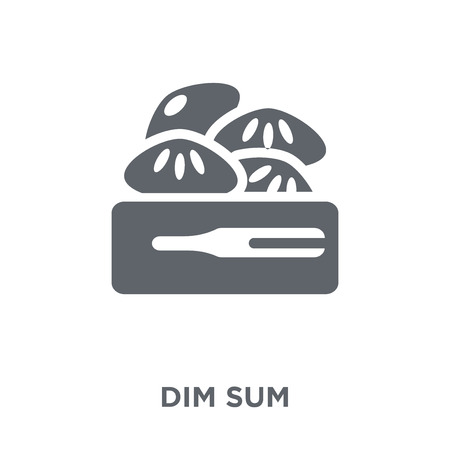 Dim sum icon. Dim sum design concept from Restaurant collection. Simple element vector illustration on white background.