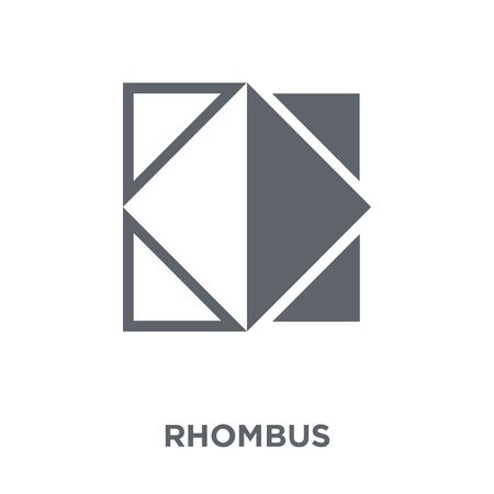 Rhombus icon. Rhombus design concept from Geometry collection. Simple element vector illustration on white background. Ilustração