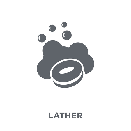 lather icon. lather design concept from Hygiene collection. Simple element vector illustration on white background.