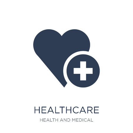 Healthcare icon. Trendy flat vector Healthcare icon on white background from Health and Medical collection, vector illustration can be use for web and mobile, eps10 Archivio Fotografico - 112203406