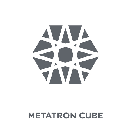 Metatron cube icon. Metatron cube design concept from Geometry collection. Simple element vector illustration on white background.