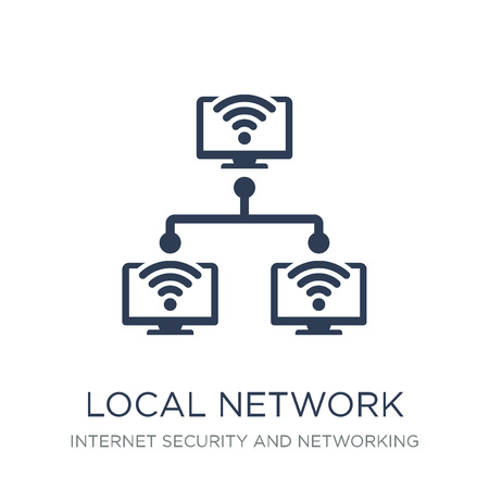 Local network icon. Trendy flat vector Local network icon on white background from Internet Security and Networking collection, vector illustration can be use for web and mobile, eps10 Vecteurs