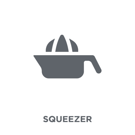 Squeezer icon. Squeezer design concept from  collection. Simple element vector illustration on white background. Stock Illustratie