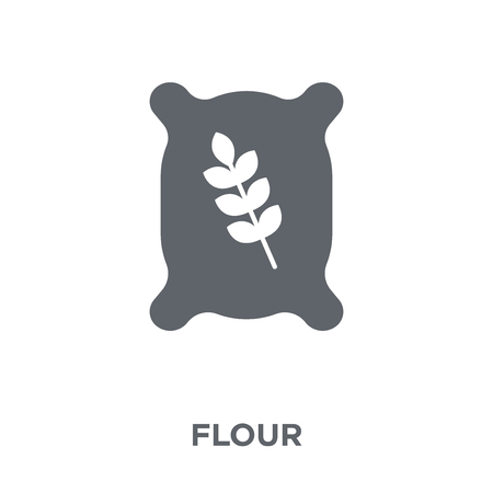 Flour icon. Flour design concept from Kitchen collection. Simple element vector illustration on white background. Çizim