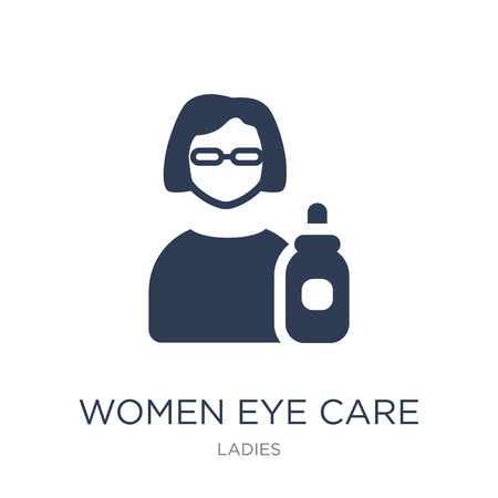 Women Eye Care icon. Trendy flat vector Women Eye Care icon on white background from Ladies collection, vector illustration can be use for web and mobile, eps10