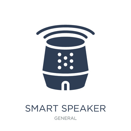 smart speaker icon. Trendy flat vector smart speaker icon on white background from General collection, vector illustration can be use for web and mobile, eps10