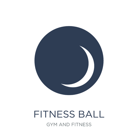 Fitness Ball icon. Trendy flat vector Fitness Ball icon on white background from Gym and fitness collection, vector illustration can be use for web and mobile, eps10 Illustration
