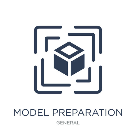 model preparation icon. Trendy flat vector model preparation icon on white background from General collection, vector illustration can be use for web and mobile, eps10