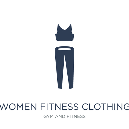 Women Fitness Clothing icon. Trendy flat vector Women Fitness Clothing icon on white background from Gym and fitness collection, vector illustration can be use for web and mobile, eps10 Standard-Bild - 112229725