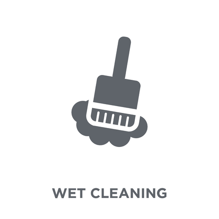 wet cleaning icon. wet cleaning design concept from Hygiene collection. Simple element vector illustration on white background.