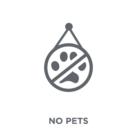 No pets icon. No pets design concept from Hotel collection. Simple element vector illustration on white background.