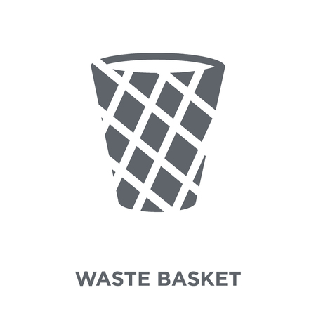 Waste basket icon. Waste basket design concept from Furniture and household collection. Simple element vector illustration on white background. Illustration