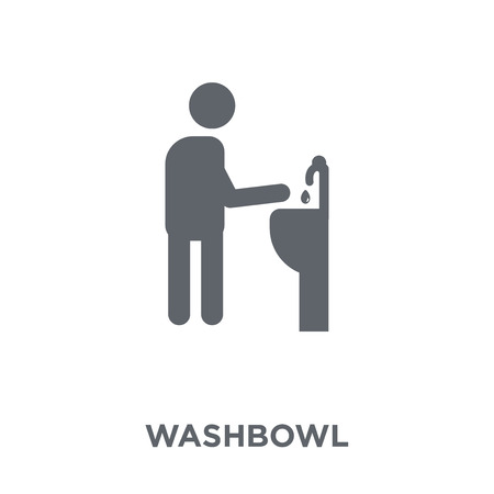 Washbowl icon. Washbowl design concept from Hygiene collection. Simple element vector illustration on white background. Banco de Imagens - 112229751
