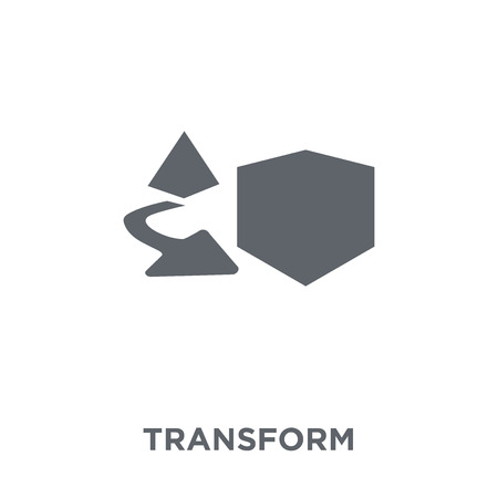 Transform icon. Transform design concept from Geometry collection. Simple element vector illustration on white background.