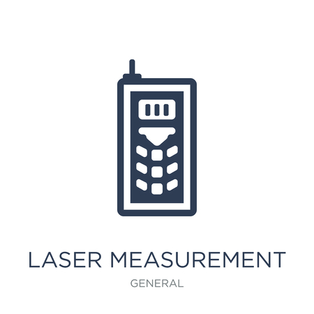 laser measurement icon. Trendy flat vector laser measurement icon on white background from General collection, vector illustration can be use for web and mobile, eps10
