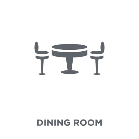 Dining room icon. Dining room design concept from Furniture and household collection. Simple element vector illustration on white background.