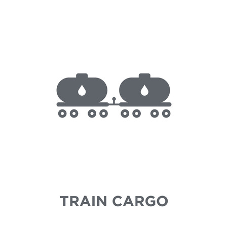 Train cargo icon. Train cargo design concept from Industry collection. Simple element vector illustration on white background.