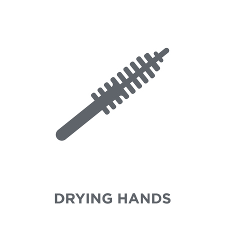 drying hands icon. drying hands design concept from Hygiene collection. Simple element vector illustration on white background. Ilustrace
