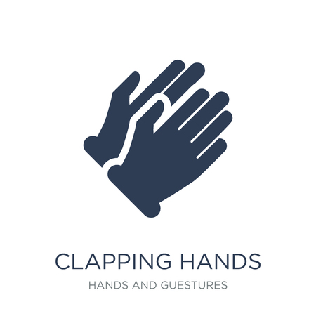 Clapping Hands icon. Trendy flat vector Clapping Hands icon on white background from Hands and guestures collection, vector illustration can be use for web and mobile, eps10