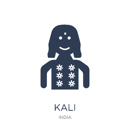 Kali icon. Trendy flat vector Kali icon on white background from india collection, vector illustration can be use for web and mobile, eps10