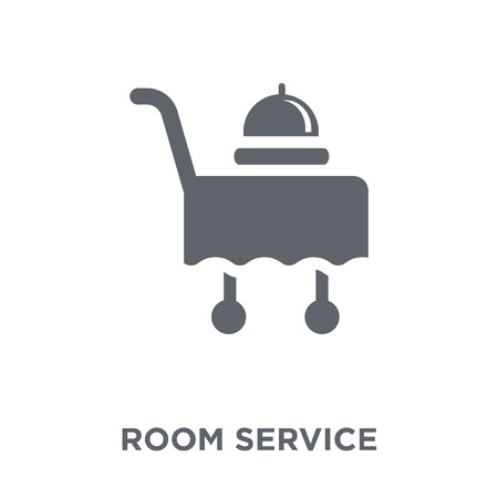 Room service icon. Room service design concept from Hotel collection. Simple element vector illustration on white background. Çizim