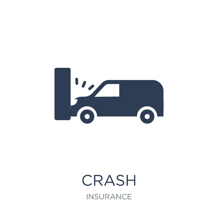Crash icon. Trendy flat vector Crash icon on white background from Insurance collection, vector illustration can be use for web and mobile, eps10